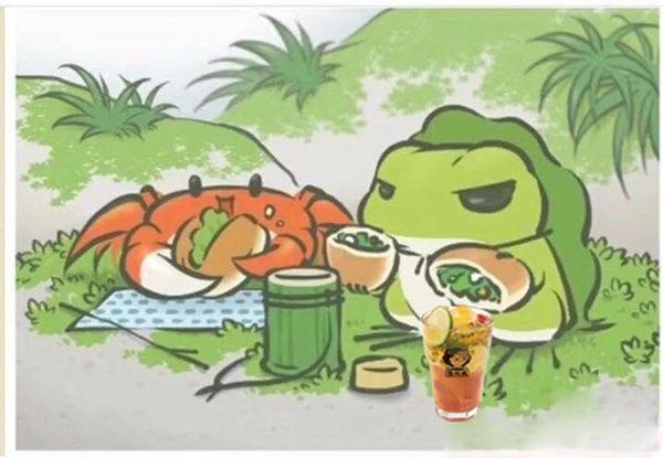 旅行青蛙也会点张阿姨奶茶了