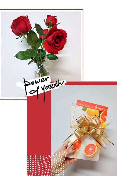 张阿姨员工福利——玫瑰花和面膜