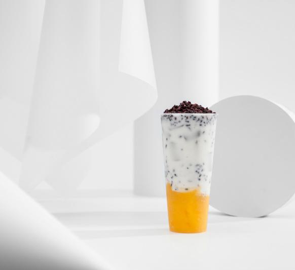 芒果紫米酸奶